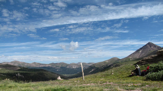Looking back down the Ute Creek drainage
