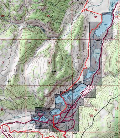 Path through N Clear Creek valley