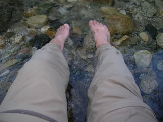 Big sur feet soaking