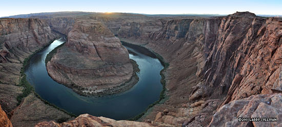 Horseshoe Bend near Page AZ. It's 1000 ft. down to the Colorado River