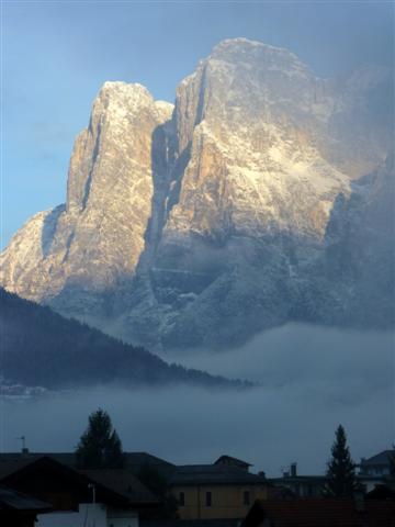 Sunrise in Agordo Italian Dolomites