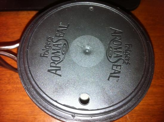 Folgers snap on 11.3 oz lid, modified by me