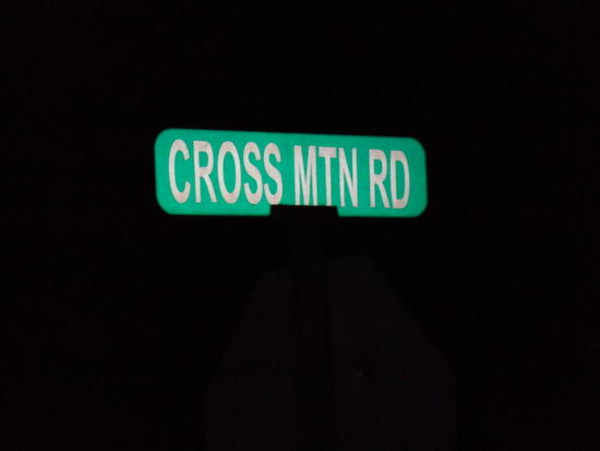 Road Sign at Intersection of Cross Mtn Road and TN 91