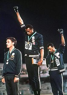 Tommy Smith & John Carlos 1968 Olympics