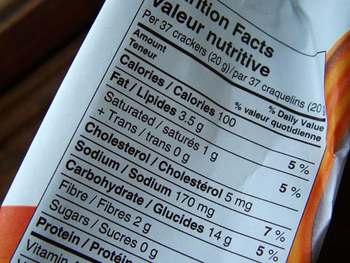 goldfish crackers - nutritional info