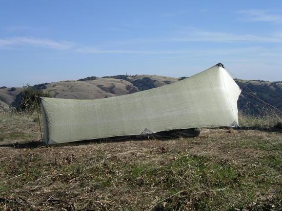 Mountain Laurel Designs Patrol Shelter in green cuben Fiber