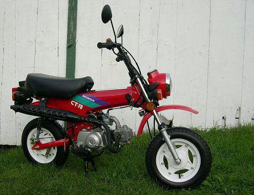 1993 Honda CT70, Bone Stock