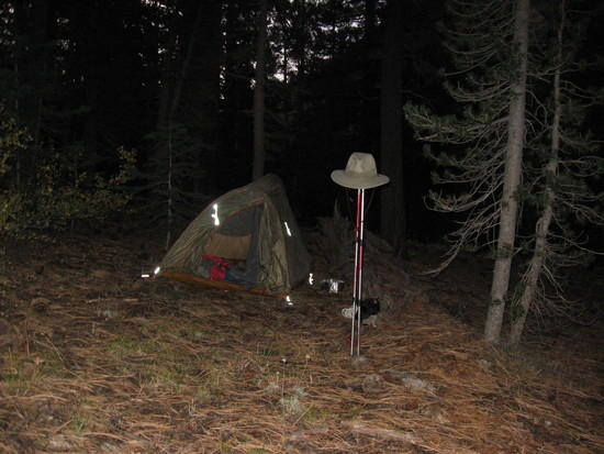 First night along Kennedy Creek trail