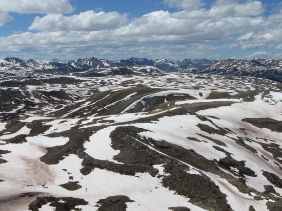Colorado and Continental divide Trails combine here below Hunchback peak
