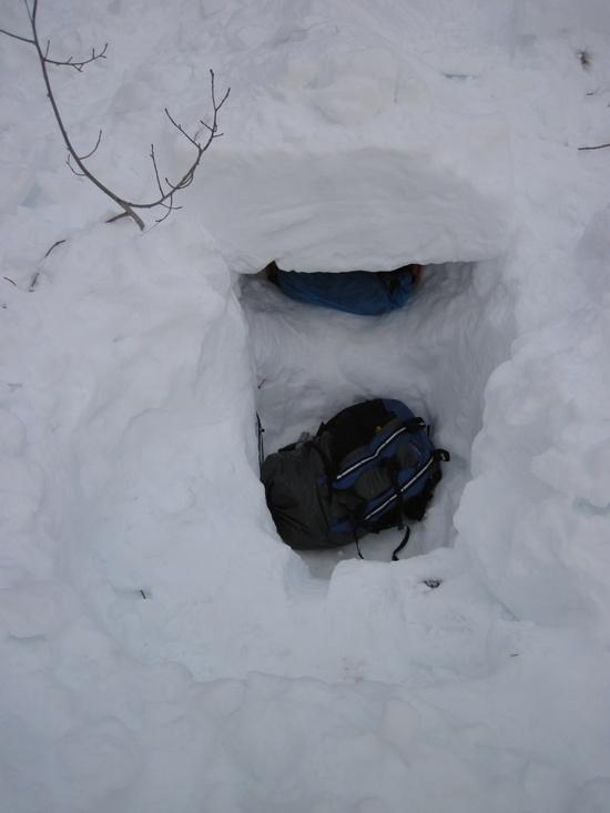 One person snow shelter 2