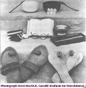 Gandhi's possessions