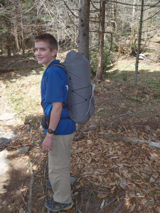 Joseph and his new MYOG pack