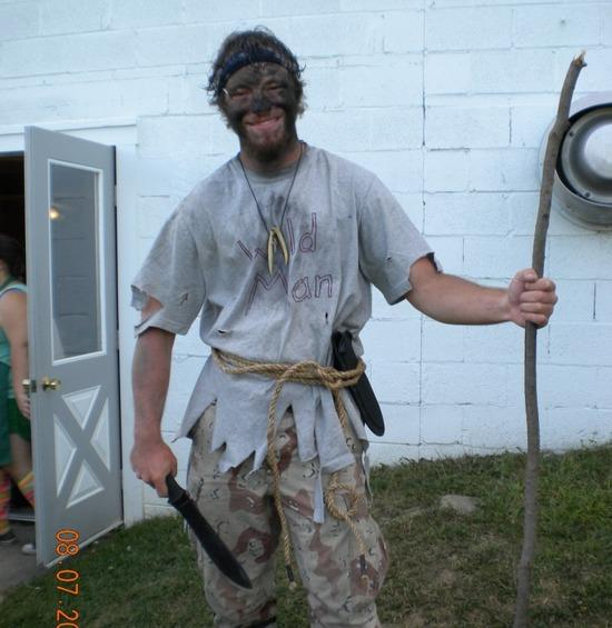 "Me dressed as ""Wild Man"""