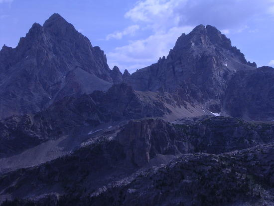 Tetons from Hurricane Pass