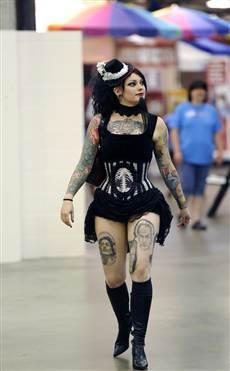 Tattooed bearded lady