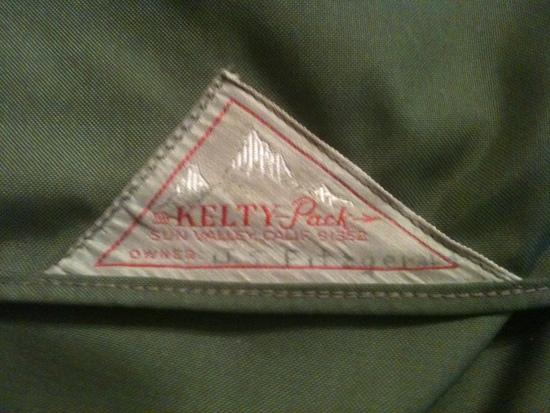 Kelty pack label