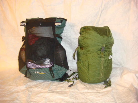 TNF Rucksack and ULA Conduit