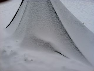 snow on shelter