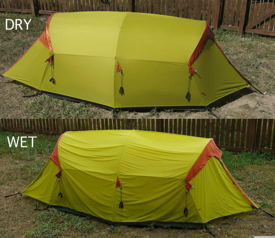 Wet-Dry tent cycling