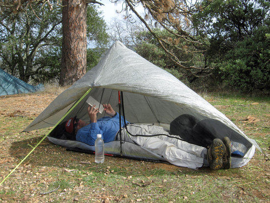 Richard's Hexamd Solo Tarp with HexaNet Solo Bug Shelter