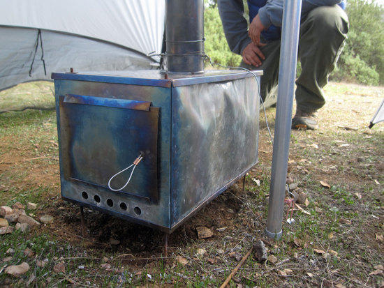 Cool Wood Burning Stove that you can cook on