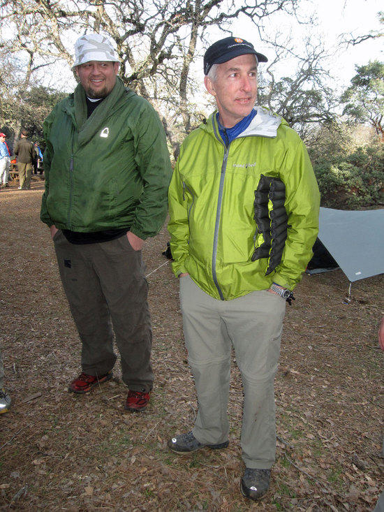 Dave From Gossamer Gear Next to Jason