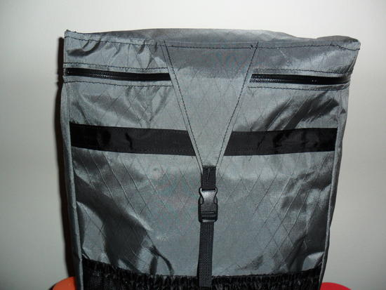 Zippered Lid with compression/weather flap
