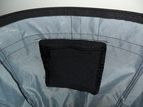 Zippered and Padded cell phone pocket