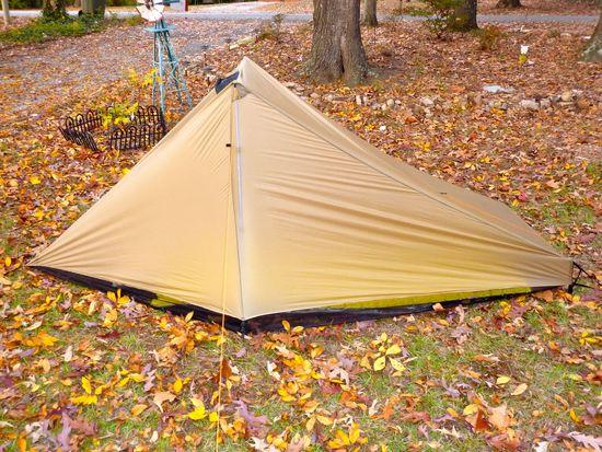 "The Vamp Tarp with a 25""x77"" neoair and a 20""x60"" inside"