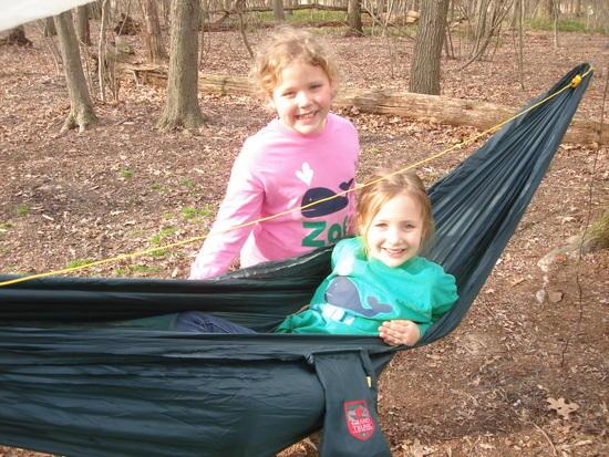 Loving Daddy's hammock