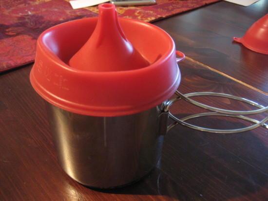 funnel as pot lid