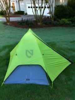 Tent with fly attached