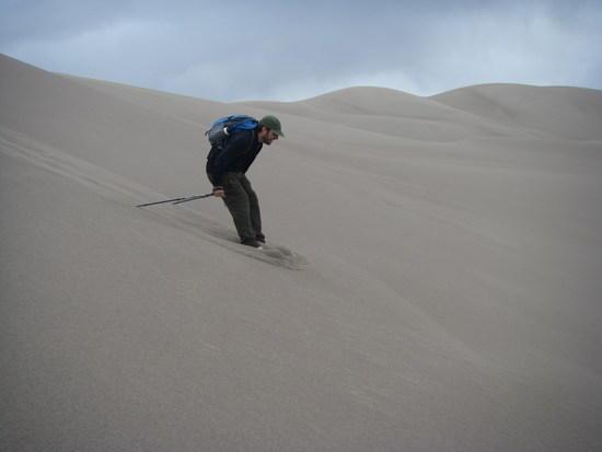 sam sand skiing