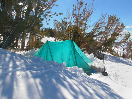 tarp shelter with wall for wind