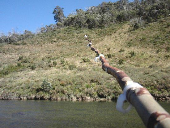 Fishing rod with Plastimake eyelets