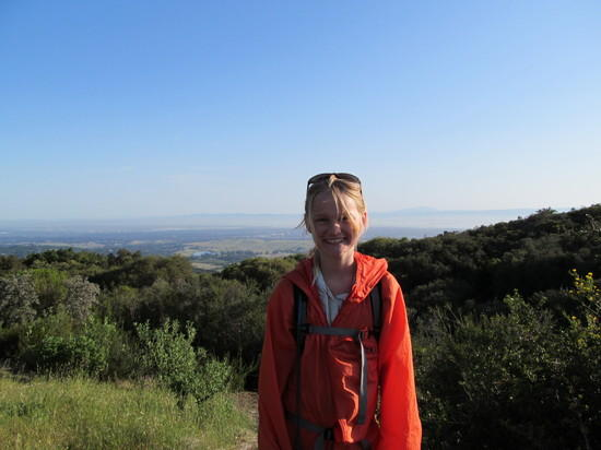 Looking back to the San Francisco Bay from Los Trancos Trail