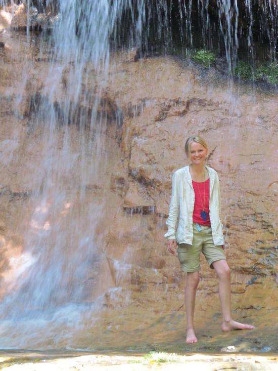 Hannah in Upper Golden Cascades