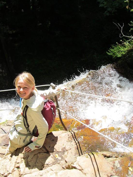 Hannah at top of Silver Fall