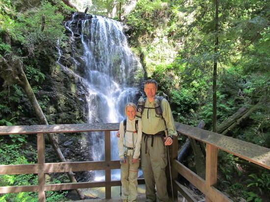 Hannah and dad at Berry Creek Fall