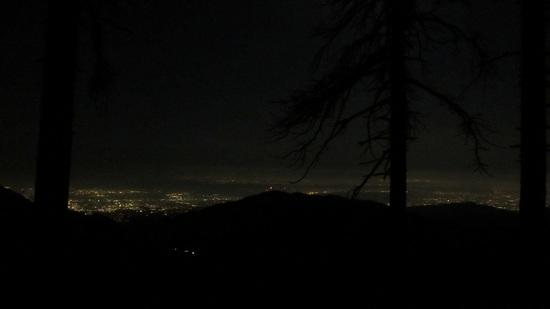 Moonlit hike up Bear Canyon Trail - watch out for bear scat!