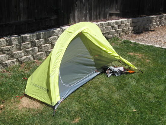 Vestibule Interior space. & Easton Kilo 1 Person-Brief Review - Backpacking Light
