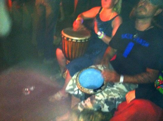 Drum Circle to stir up the natives (they have already been well marinaded)