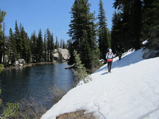 Snow covered trail South of Wood lake