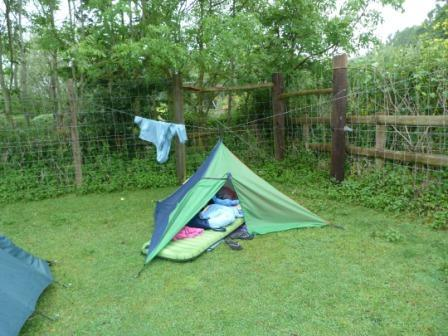 And after two nights - second night involved torrential rain for an hour or two, and V strong winds