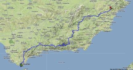 Detailed Map Of Southern Spain.5 Weeks Hiking The Gr 7 In Southern Spain Backpacking Light