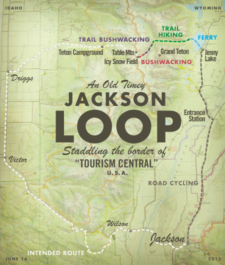 Teton Packbike Map