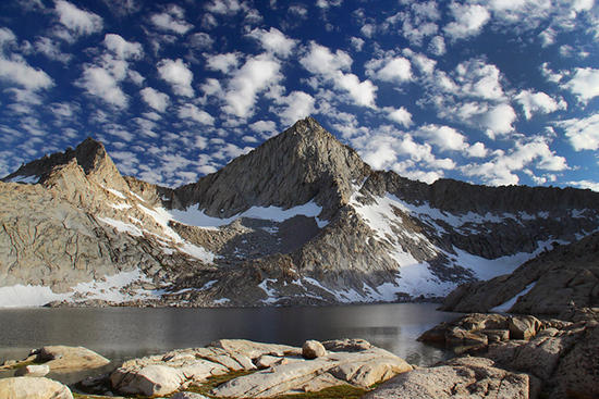 Columbine Lake below Sawtooth Peak, Sequoia National Park