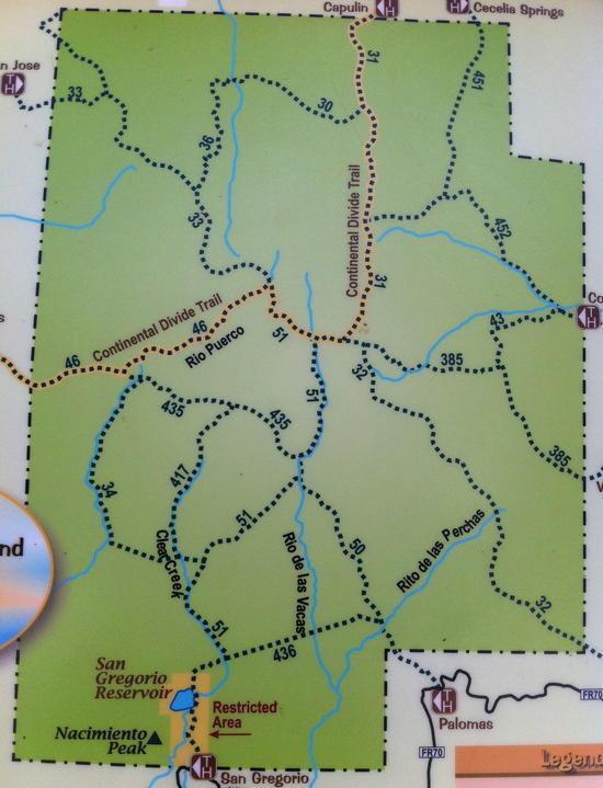 San Pedros trail map