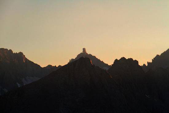 Milestone Peak at sunset