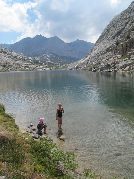 Swimming in Lower Palisade Lake